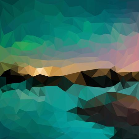 dissimilar: Abstract vector triangular geometric background Illustration