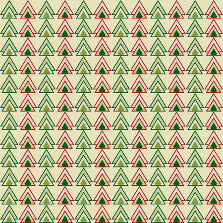 reiteration: Green and red christmas colored triangles pattern geometric background for use in design