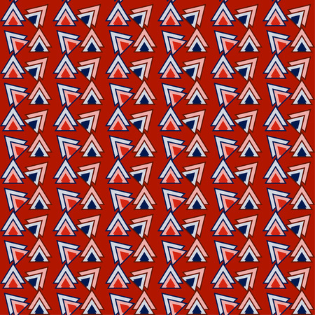 reiteration: Bright red and blue colored triangles pattern geometric background for use in design