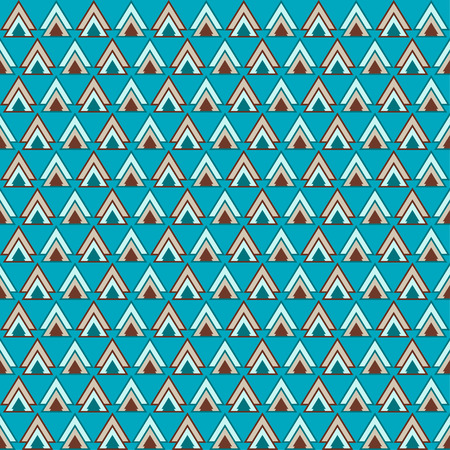 Bright blue and brown colored triangles pattern geometric background for use in design