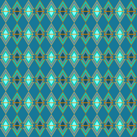 reiteration: Bright blue colored triangles pattern geometric background for use in design