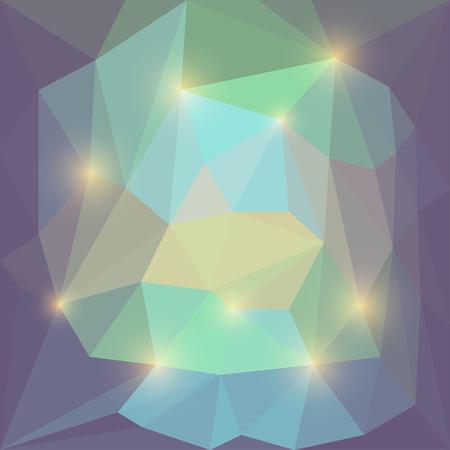 motley: Estratto morbido di vettore di colore triangolare sfondo geometrico multicolore di giallo brillante luci abbaglianti Vettoriali