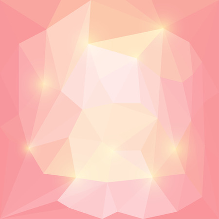 medley: Abstract bright pink and yellow colored vector triangular geometric background with glaring lights Illustration
