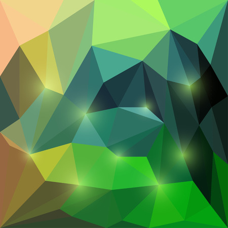 medley: Abstract vector compound triangular geometric background with glaring lights