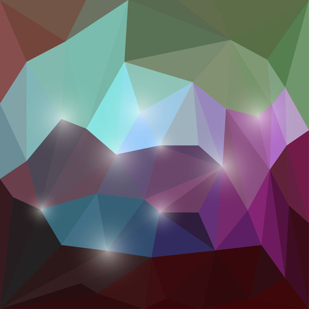 medley: Abstract assorted vector triangular geometric background with glaring lights