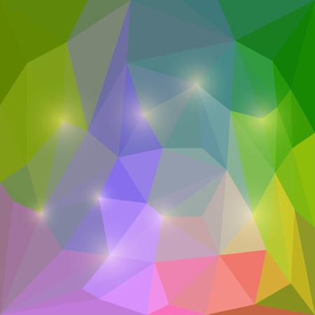 motley: Estratto vettore Motley triangolare sfondo poligonale geometrica con brilla