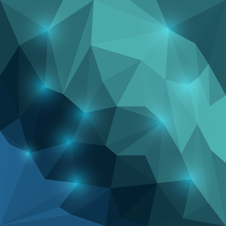 dissimilar: Abstract vivid vector triangular geometric background with bright blue glaring lights Illustration