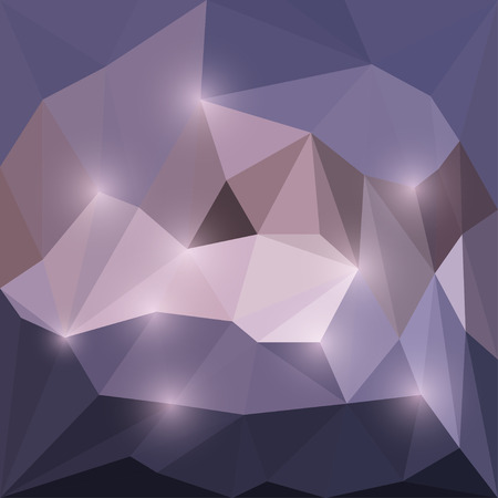 dissimilar: Abstract lilac vector triangular geometric background with soft glaring lights