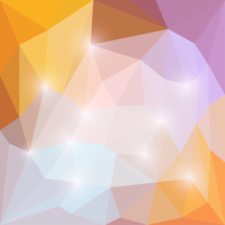 medley: Abstract vector geometric polygonal background with lights Illustration