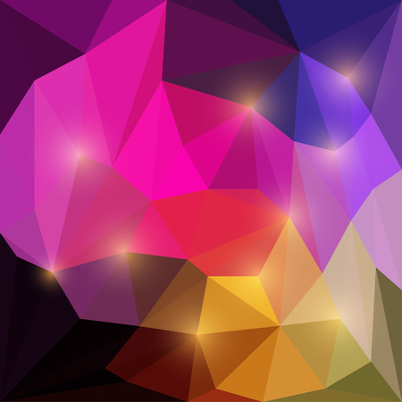 dissimilar: Abstract blazing goudy vector triangular geometric polygonal background with bright glaring lights
