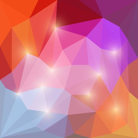 motley: Abstract rainbow eterogeneo luminoso vettore colorato triangolare sfondo geometrico poligonale con luci gialle