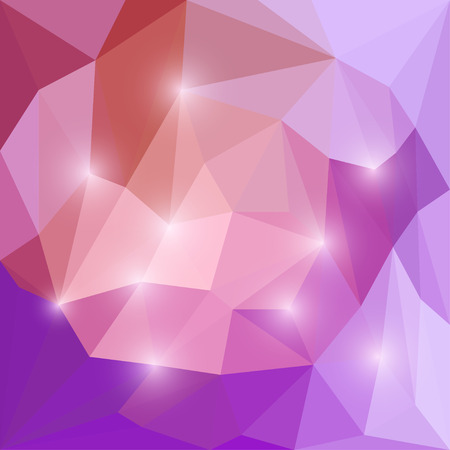 medley: Abstract purple and lilac colored vector triangular geometric background with bright glaring lights