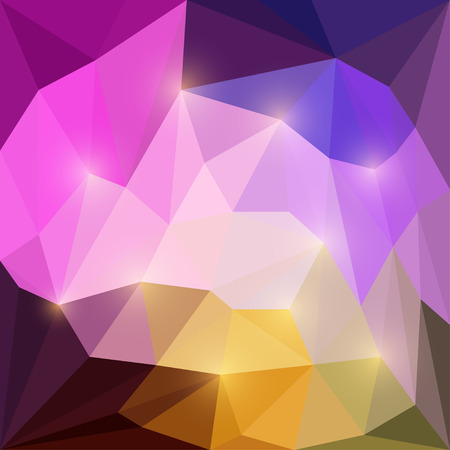 dissimilar: Abstract blazing triangular vector geometric background with glaring lights