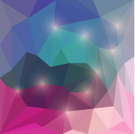 muddle: Abstract vivid vector polygonal geometric background with bright yellow glaring lights Illustration