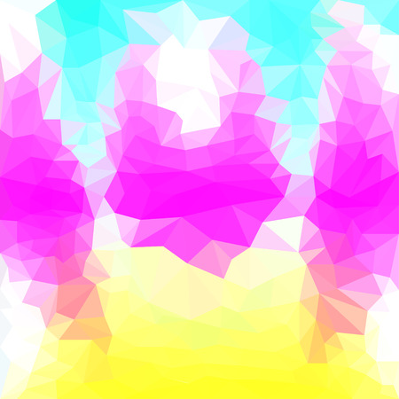 separable: Abstract bright purple, yellow, blue and white colored polygonal triangular basis background for use in design Illustration