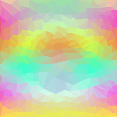 crumbling: Abstract polygonal triangular basic background for use in design with a luminous circle among bright colors