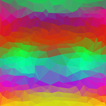 Polygonal abstract triangular background painted in bright spectral color to use in design Illustration