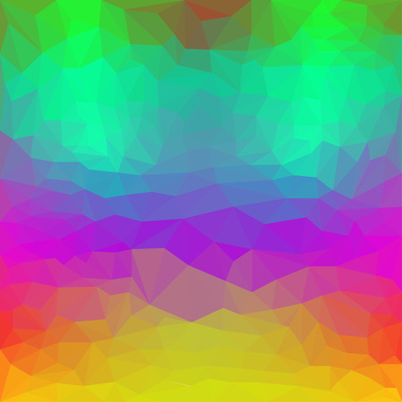 Triangular abstract polygonal basis background with bright spectral colors for use in design Illustration