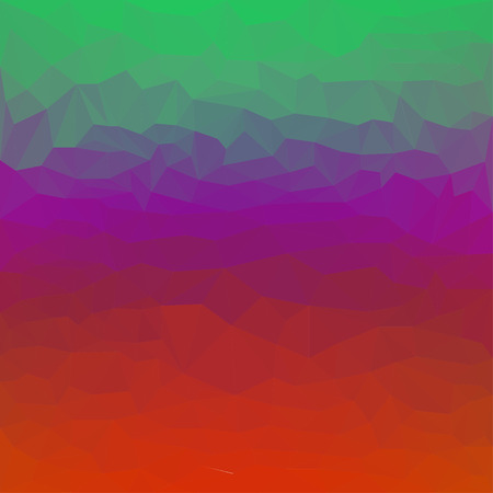 chipping: Dark bright red, purple and green gradient colored abstract triangular polygonal background for use in design