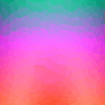 pink green: Rojo brillante, rosa, fondo abstracto de color verde y azul poligonal triangular para su uso en dise�o