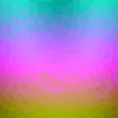 Bright yellow, pink, blue and green gradient colored triangular abstract polygonal background for use in design