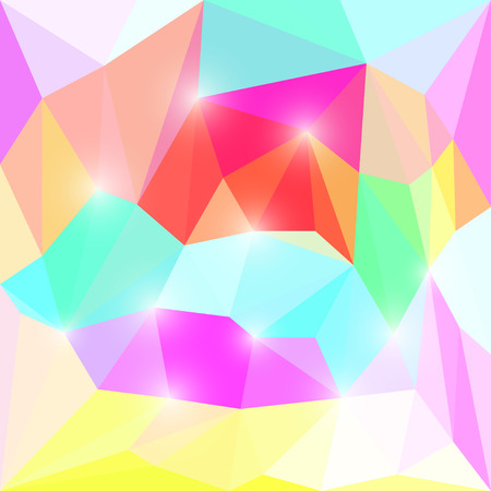 Abstract bright polygonal triangular background for use in design Illustration