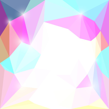Abstract triangular polygonal triangular background with glaring lights for use in design Illustration