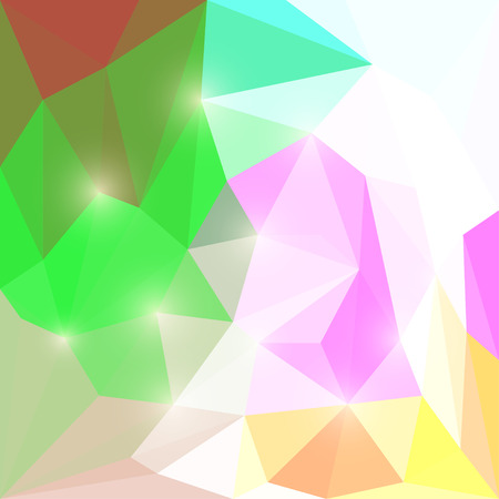 chipping: Abstract different colored polygonal triangular background with glaring lightsfor use in design