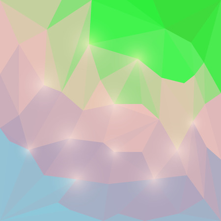 Abstract soft colored polygonal triangular background with lights for use in design