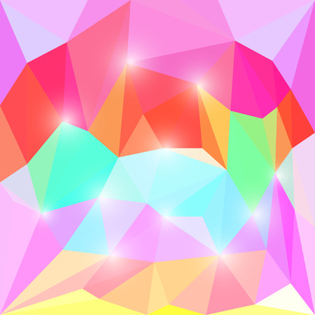 separable: Abstract bright polygonal triangular background for use in design Illustration