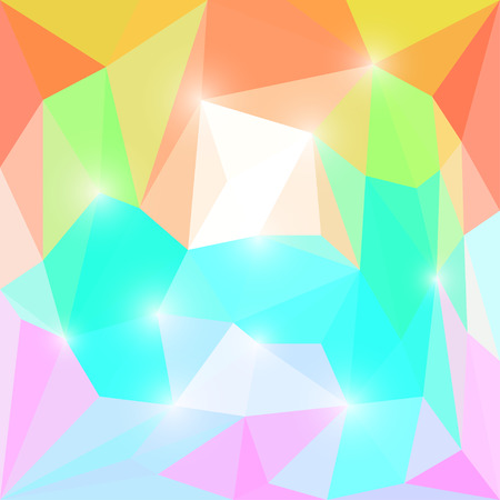 jaded: Abstract bright polygonal triangular background for use in design Illustration
