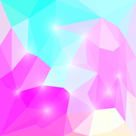 Abstract purple and blue colored polygonal triangular geometric background with soft lights for use in design Illustration