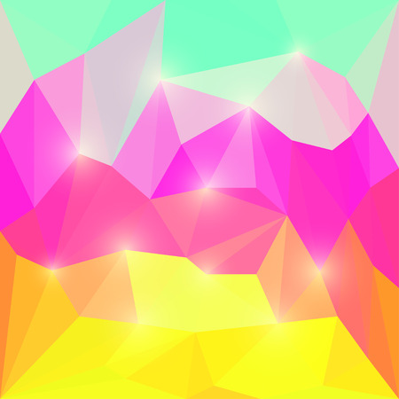 Bright spectral colored abstract polygonal triangular background for use in design Illustration