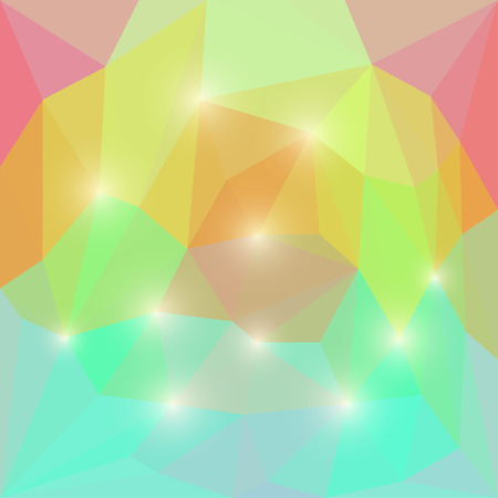 separable: Abstract soft colored polygonal triangular background with shining lights for use in design