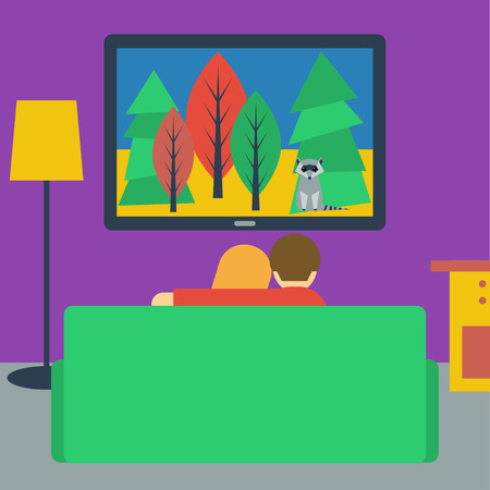 http://us.123rf.com/450wm/vanillamilk/vanillamilk1411/vanillamilk141100150/33788190-bright-colored-illustration-in-a-flat-style-with-couple-watching-television-sitting-on-the-couch-in-.jpg?ver=6