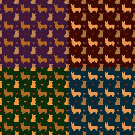corgi: corgi seamless pattern vector background Illustration