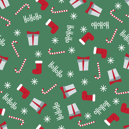 winter holidays pattern seamless vector background