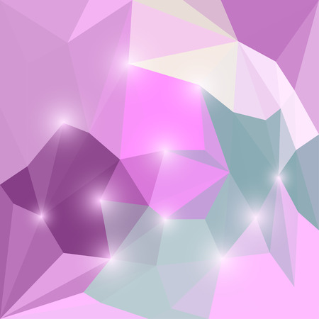 jaded: Abstract bright colored polygonal triangular background with glaring lights