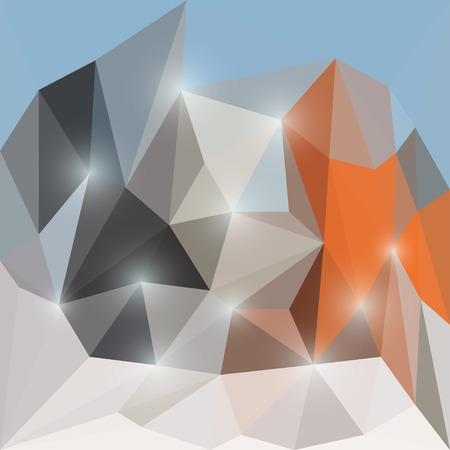 chipping: Abstract bright colored polygonal triangular background with glaring lights