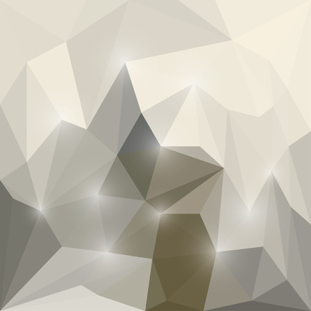 chipping: Abstract soft winter colored polygonal triangular background with glaring lights Illustration