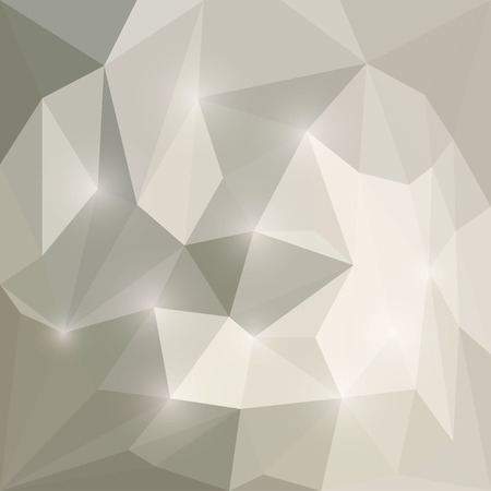 chipping: Abstract soft winter colored polygonal triangular background with glaring lights  for use in design