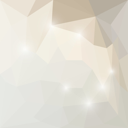 Abstract soft winter colored polygonal triangular background with glaring lights Illustration