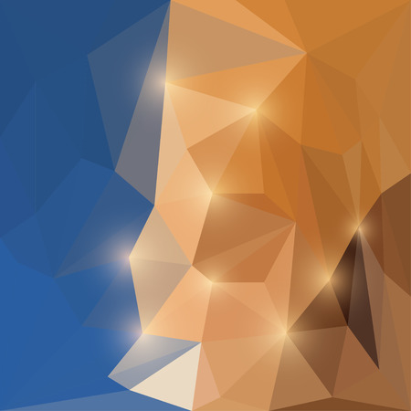 separable: Abstract bright colored polygonal triangular background with glaring lights