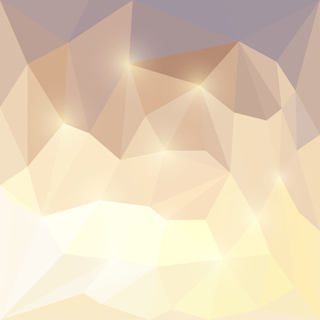 Abstract bright sunny sky colored polygonal triangular background with glaring lights