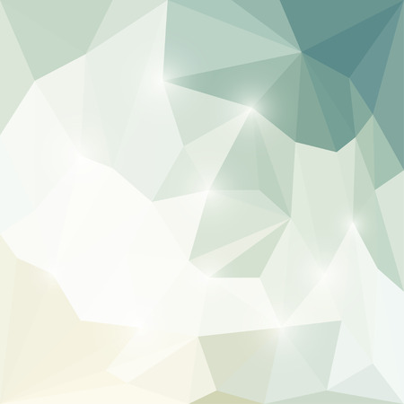 Abstract soft winter colored polygonal triangular background with glaring lights  for use in design