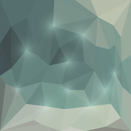 Abstract bright winter colored polygonal triangular background with glaring lights