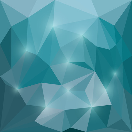 chipping: Abstract deep sea colored polygonal triangular background with glaring lights  for use in design