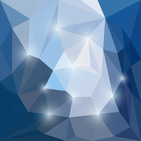 separable: Abstract bright winter colored polygonal triangular background with glaring lights