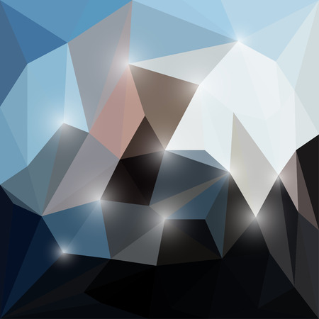 separable: Abstract bright colored polygonal triangular background with glaring lights  for use in design
