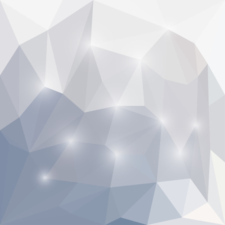 separable: Abstract winter colored polygonal triangular background with glaring lights  for use in design